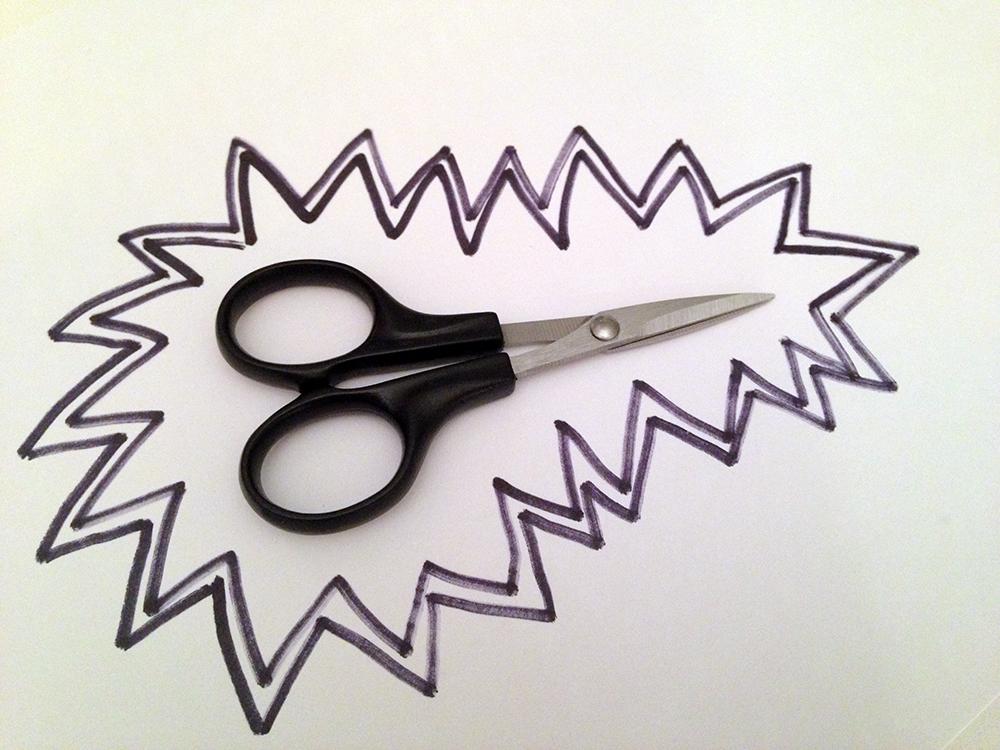 Scissors of the tiny variety