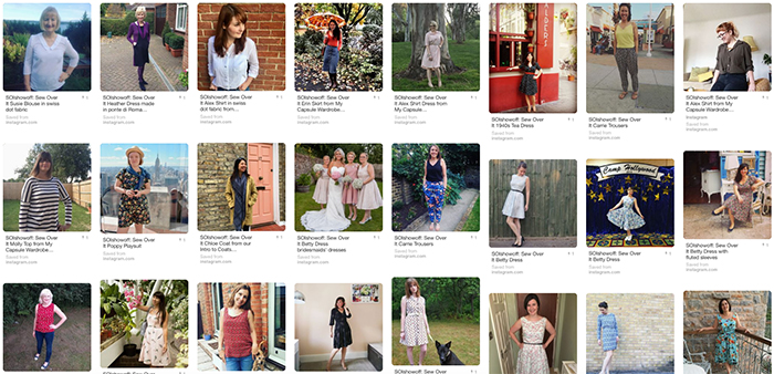 #SOIshowoff Pinterest board: Sew Over It Online Fabric Shop