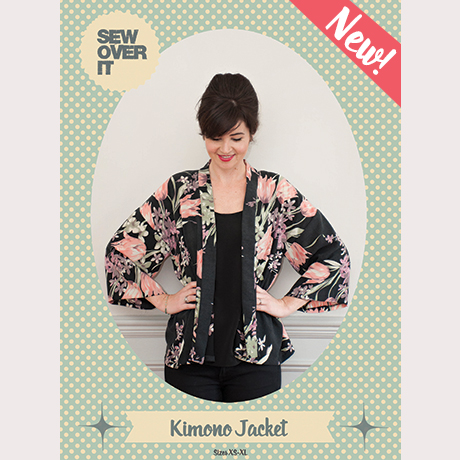 Sew Over It Kimono Jacket Sewing Pattern :: download from Sew Over It's online fabric shop