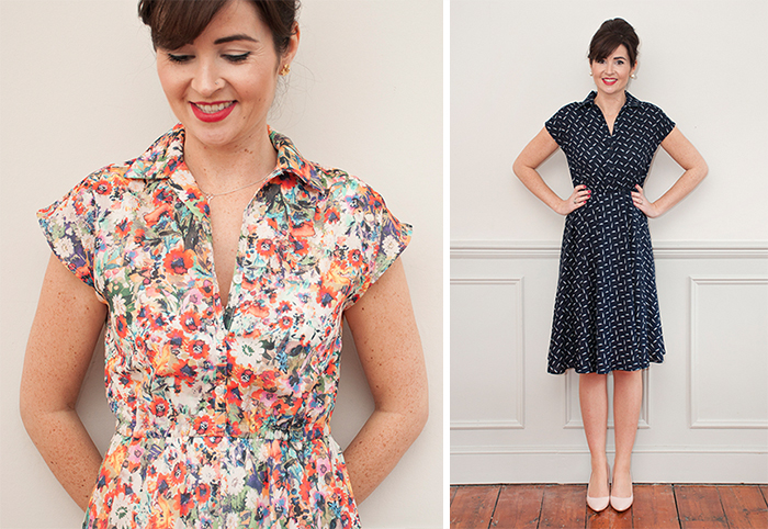 Penny Dress Tie-Front Shirt Hack :: a tutorial from Sew Over It