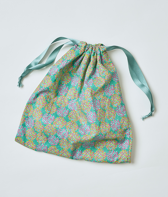 Drawstring Bag in floral pattern - Sew Over It