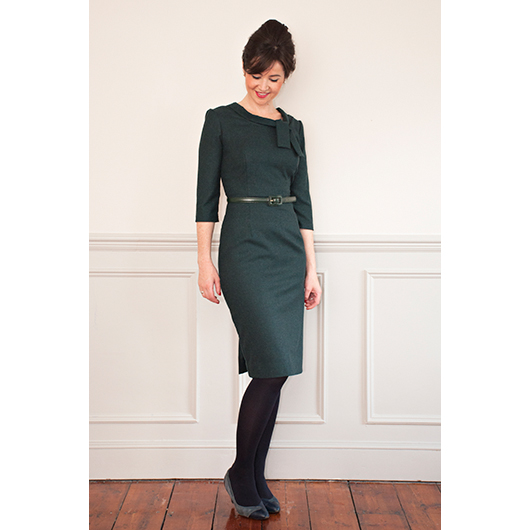 Joan Dress sewing pattern from Sew Over It - based on the style of Joan Holloway from Mad Men, the Joan Dress is a 60s inspired fitted dress with elegant collar detail. Get your pattern here: http://shop.sewoverit.co.uk/products/joan-dress-sewing-pattern