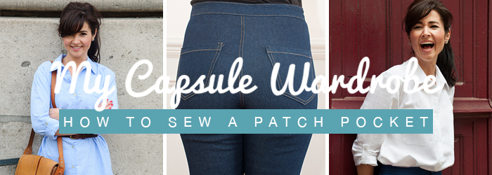 How to Sew a Patch Pocket - Sewing Tutorial | Sew Over It