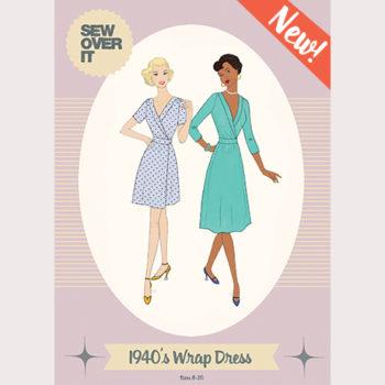 New Paper Pattern Alert! Meet the 1940's Wrap Dress!