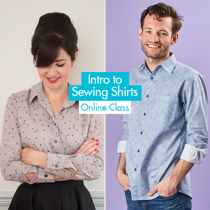 8e8e18b02f56a7 ... Shirts online class! In our brand new in-depth online sewing class