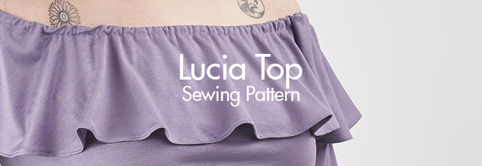 Lucia Top Sewing Pattern by Sew Over It :: super on-trend jersey top <3