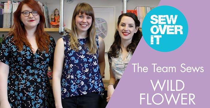 The Sew Over It team sews Lisa Comfort Wild Flower