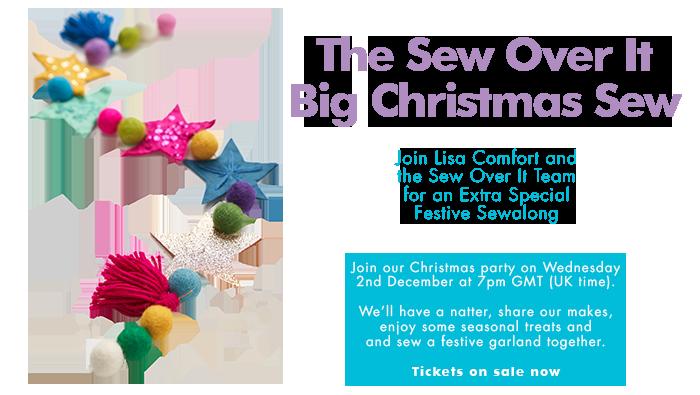 Big Christmas Sew promotional artwork featuring a handmade festive garland