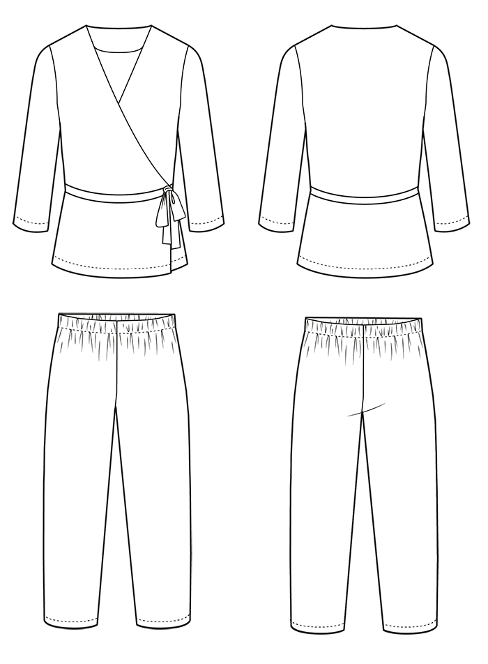 Illustration of the Luna Pyjamas Sewing Pattern