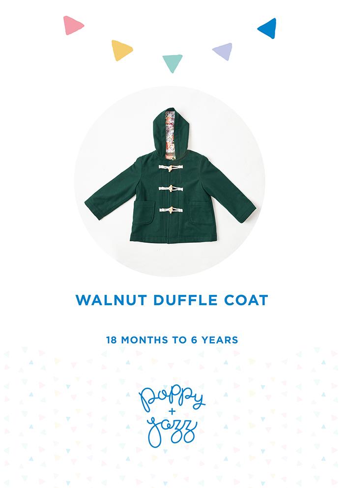 Walnut Duffle Coat Sew Pattern Cover