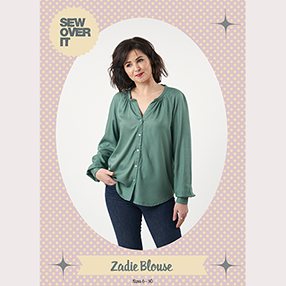 Zadie Blouse Sewing Pattern cover image for our latest blog post