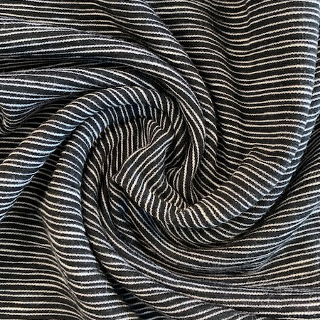 Sew Over It Ponte di Roma - Skinny Stripes Monochrome