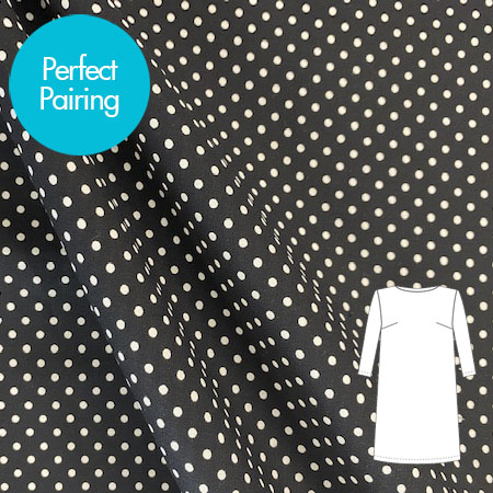 Sew Over It- black and white small polka